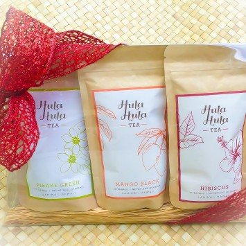 Hawaiian Tea, Mango Tea, Pikake Tea, Hibiscus Tea